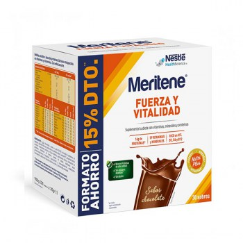 meritene chocolate 30 sobres